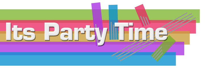 Its Party Time Abstract Colorful Stripes Horizontal