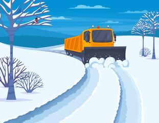 Snow Transport Illustration