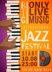 Jazz Festival Vertical Poster