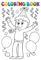 Printed roller blinds For Kids Coloring book boy celebrating theme 1