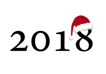 Figures 2018 in the design vision. New Year's and Christmas