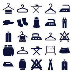 Set of 25 cloth filled icons