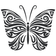 Butterfly floral shape