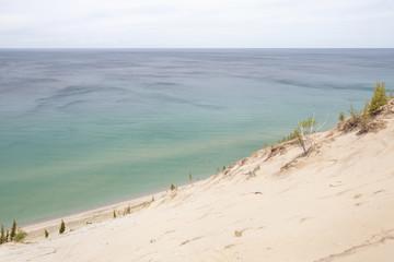 Pristine dunes  at Lake Michigan