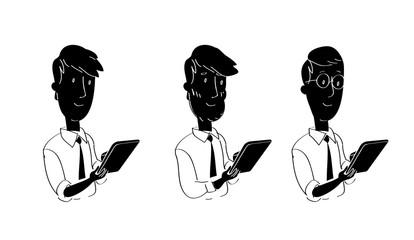 Agenti che usano tablet