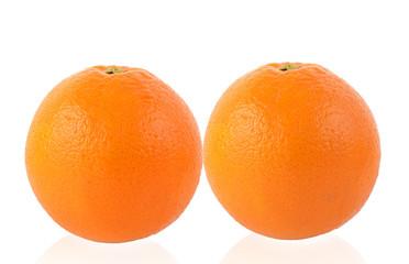 Wall Mural - Orange fruit isolated on white background