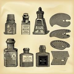 Vintage artist tools