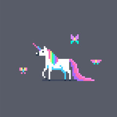 Pixel art cute unicorn