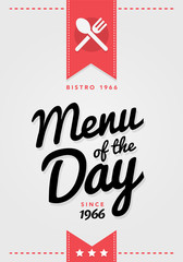 Vektor Illustraton Vintage Menü des Tages Karte Hintergund Vorlage