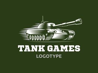 Tank logo - vector illustration, emblem design