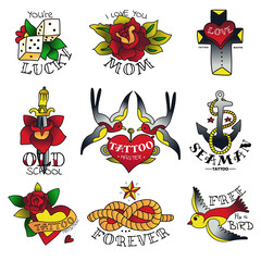 Old Tattooing School Emblems