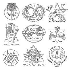 Magic Emblems Hand Drawn Set