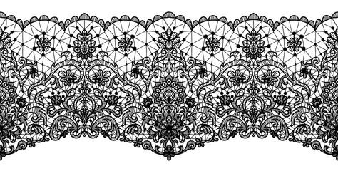 floral lace border