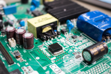 The electronics parts on main board resistor and chip technology