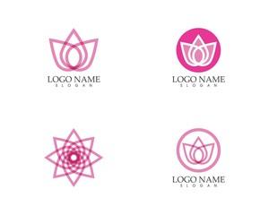 Nature flower logo design template