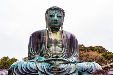 The Great Buddha in Kamakura Japan.Located in Kamakura, Kanagawa Prefecture Japan.