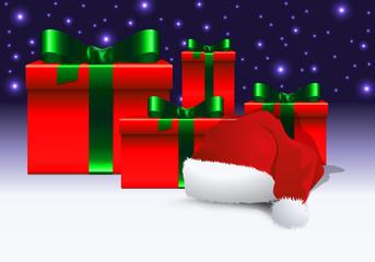 noël - père noël - cadeau - cadeaux - chapeau - bonnet - symbole - enfant - fête - joyeux noël