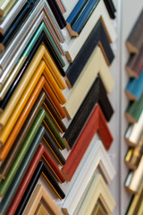 Selection of picture frames on display