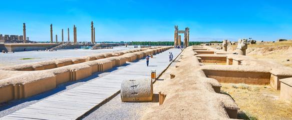 The ruins of ancient Persepolis, Iran