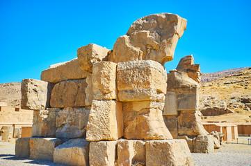 The ruins of old gate in Persepolis, Iran