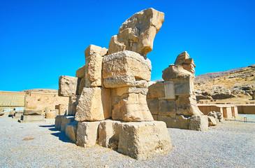 Stone gate in Persepolis, Iran