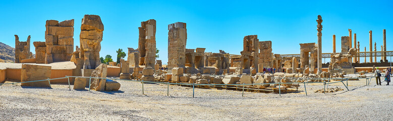 Discover palaces of Persepolis, Iran