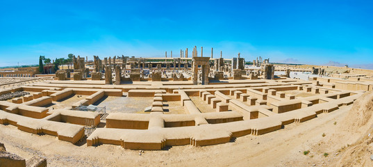 Persepolis from the mountain slope, Iran