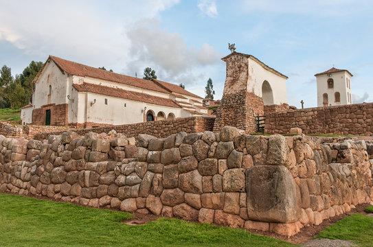 Inca Ruins in Chinchero , Peru