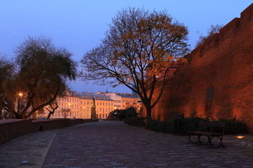 Warsaw in the early morning, Poland