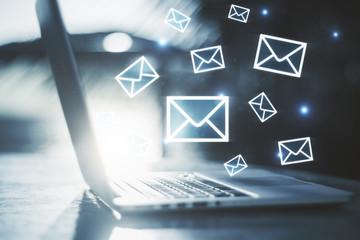 E-mail marketing concept Fototapete