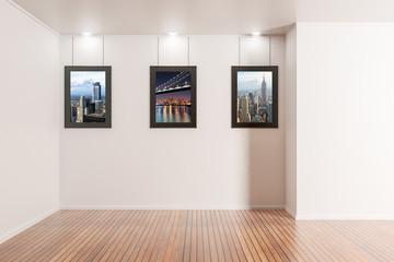 Modern gallery interior
