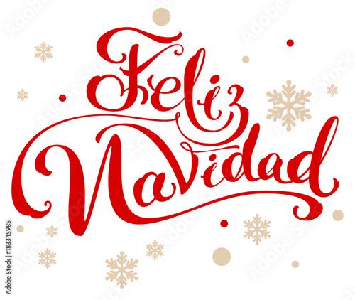Feliz Navidad Translation From Spanish Merry Christmas Lettering