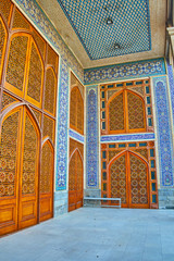 The entrance hall of Hazayer Mosque
