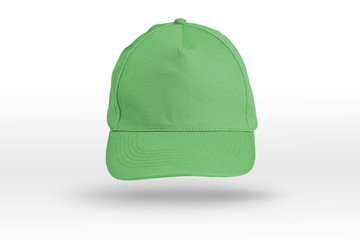 Green Baseball Cap on a white background.