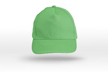 Green Baseball Cap on a white background.