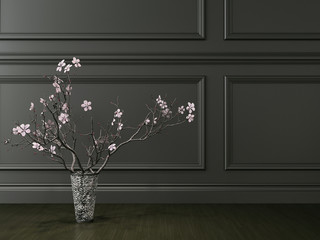 vase in the room, 3d