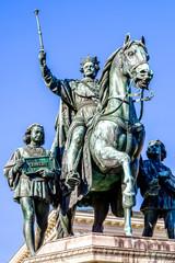 Aluminium Prints Historic monument king ludwig I.