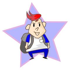The Boy character design illustration vector