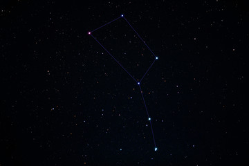 Beautiful big dipper in the Ursa Major constellation. Starry night