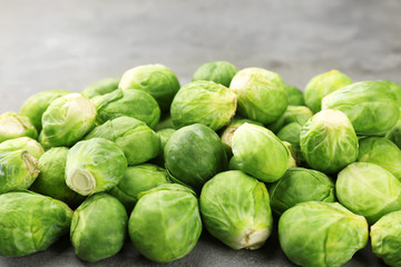Fresh raw Brussels sprouts, closeup