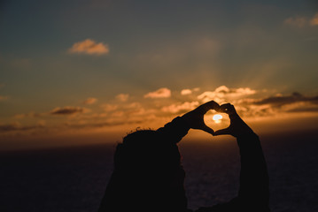 Sunset heart in Portugal