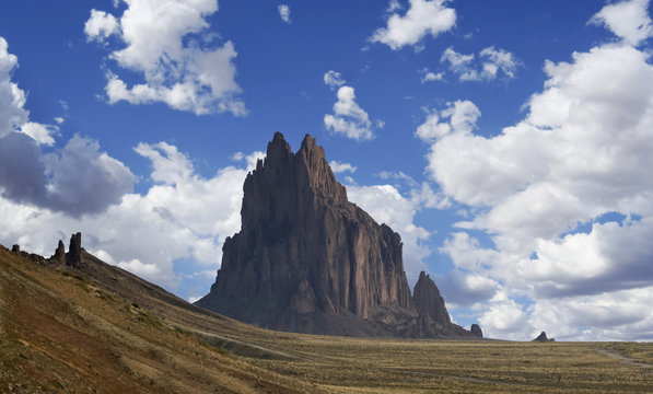 A View of Shiprock in New Mexico
