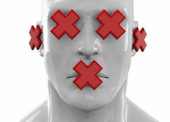 Censorship Concept - 3D