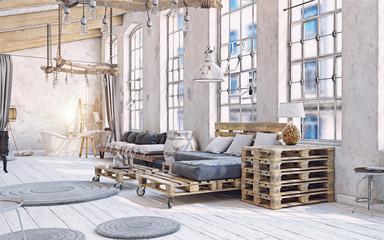 attic living room interior