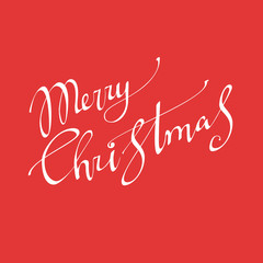 Merry Christmas vector text Calligraphic Lettering design card t