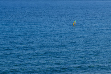 windsurfer, surfing on ocean aerial
