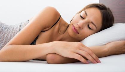 portrait woman sleeping