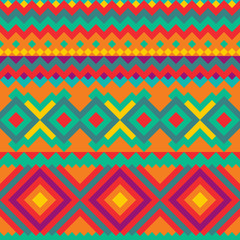 Ethnic Mexican ornament with geometric figures.