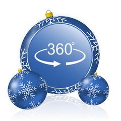 Panorama 360 blue christmas balls icon