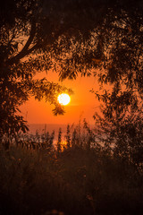 Sunset in late September, on the Volga river